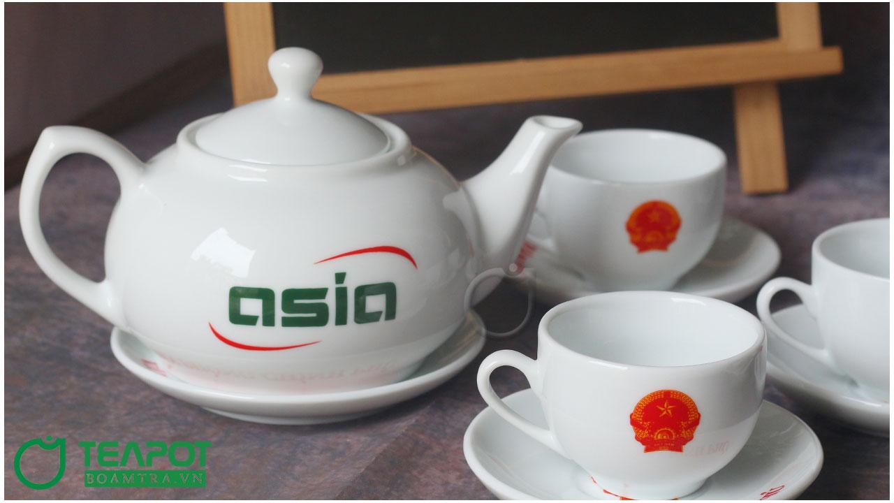 Bộ ấm trà in logo mẫu 02