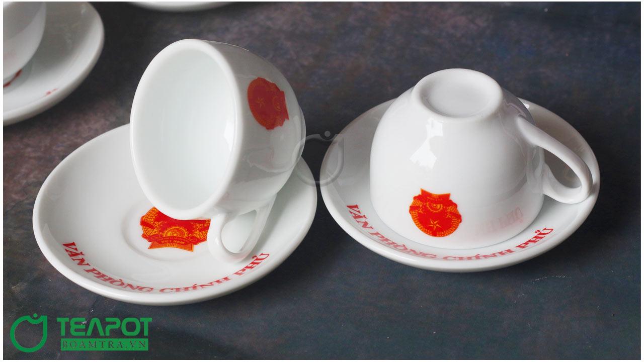 Bộ ấm trà in logo Văn Phòng Chính phủ