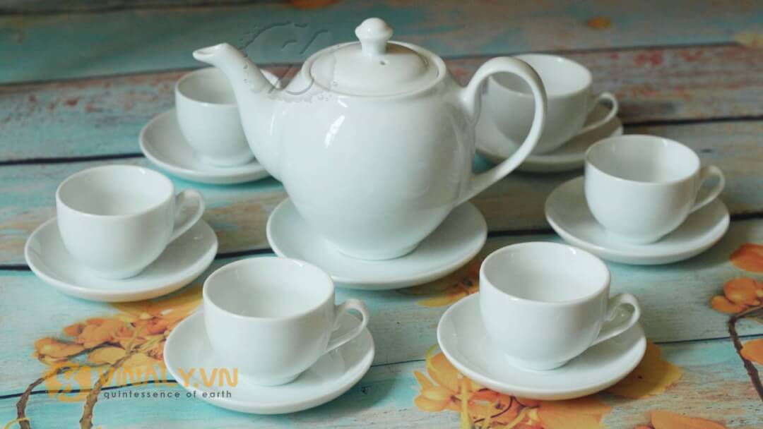 Bộ ấm trà bầu cao Bát Tràng