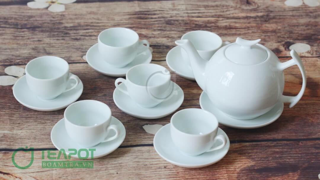Bộ ấm trà Vinaly mẫu 6 - Bộ ấm trà cành