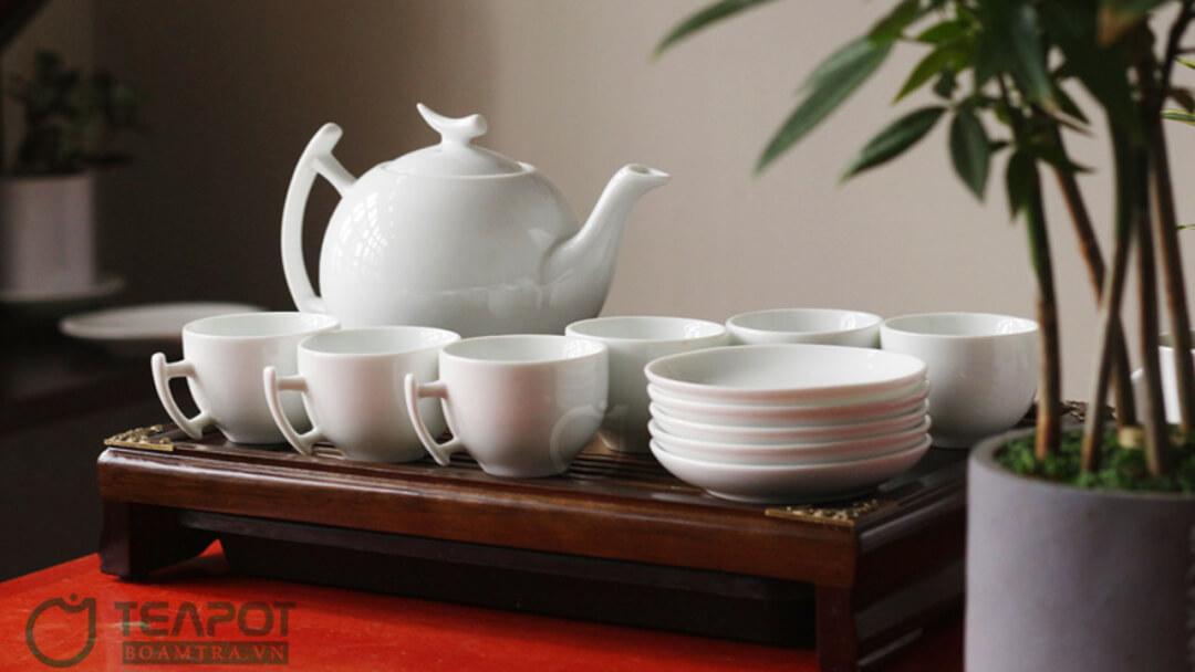 Bộ ấm trà in logo mẫu 06