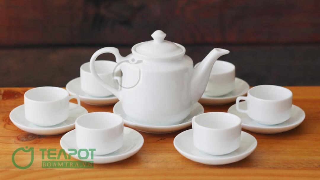 Bộ ấm trà in logo mẫu 05