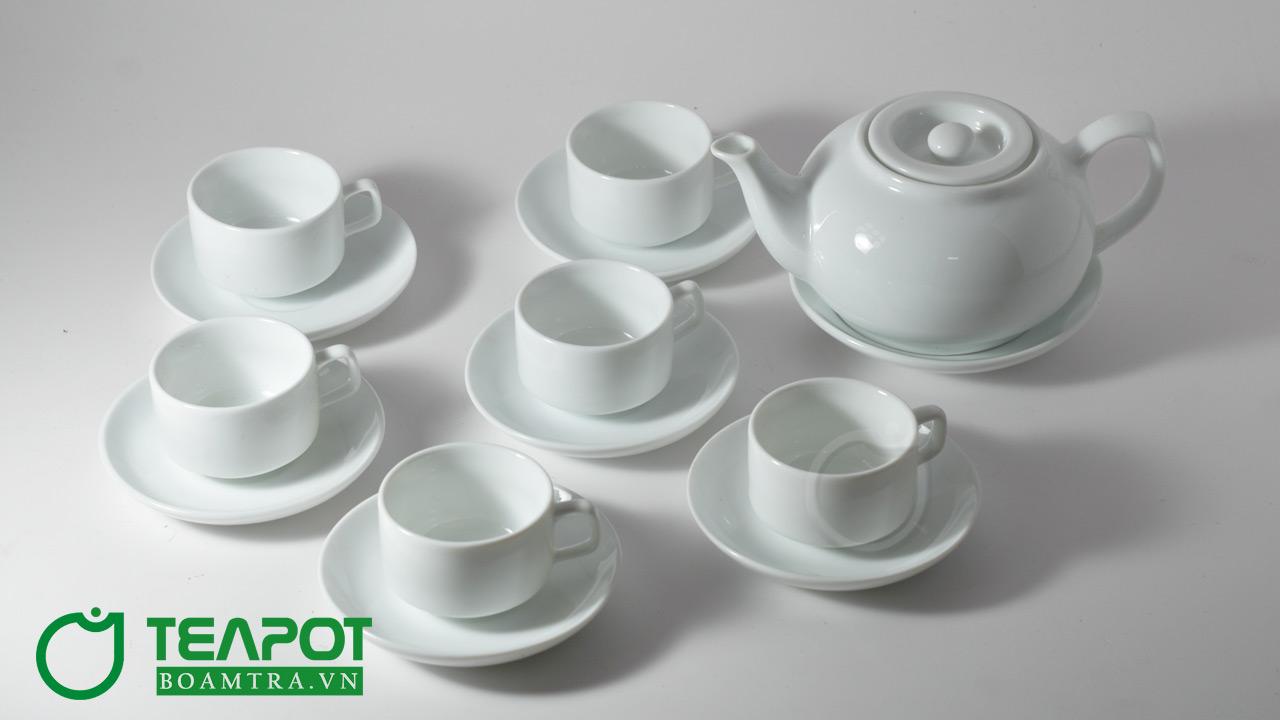 Bộ ấm trà in logo mẫu 08