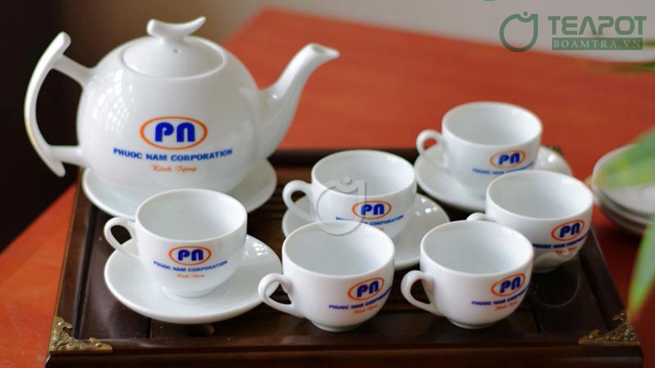 Bộ tách trà in logo Phuoc Nam Corporation